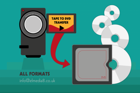 VHS Mini DV disk transfer in Chorley