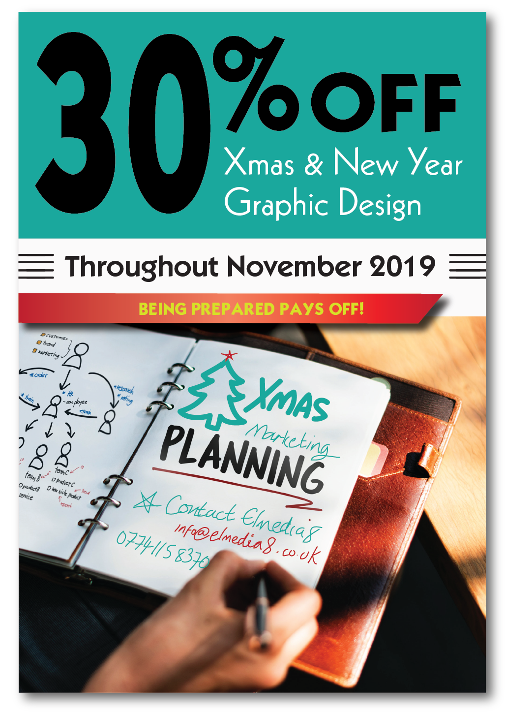 30% OFF Graphic Design